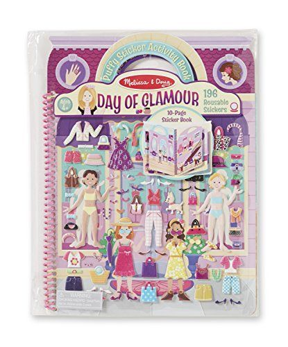 Melissa and Doug Puffy Sticker Activity Book - Day of Glamour ** Want to know more, click on the image.