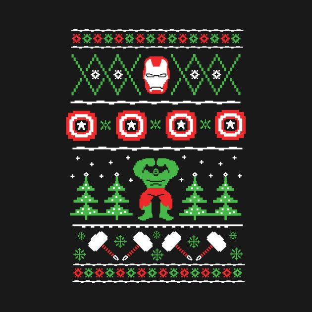 Awesome Avengers Xmas Sweater Design On Teepublic Christmas Sweaters Double Knitting Patterns Xmas Sweater