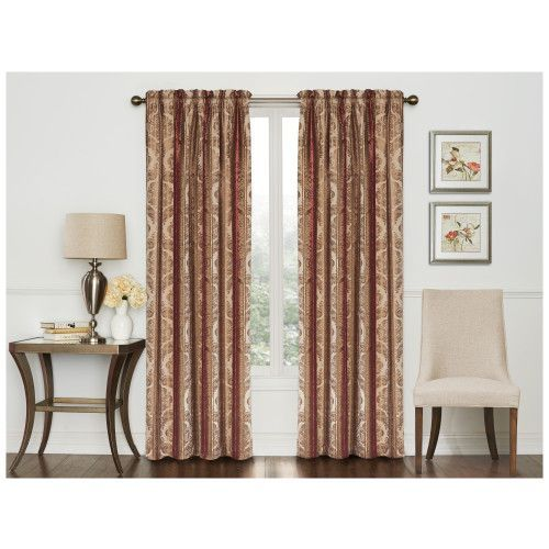 Comfort Bay Somerset Curtain Panel 50 X 84 Curtains Home Decor Household