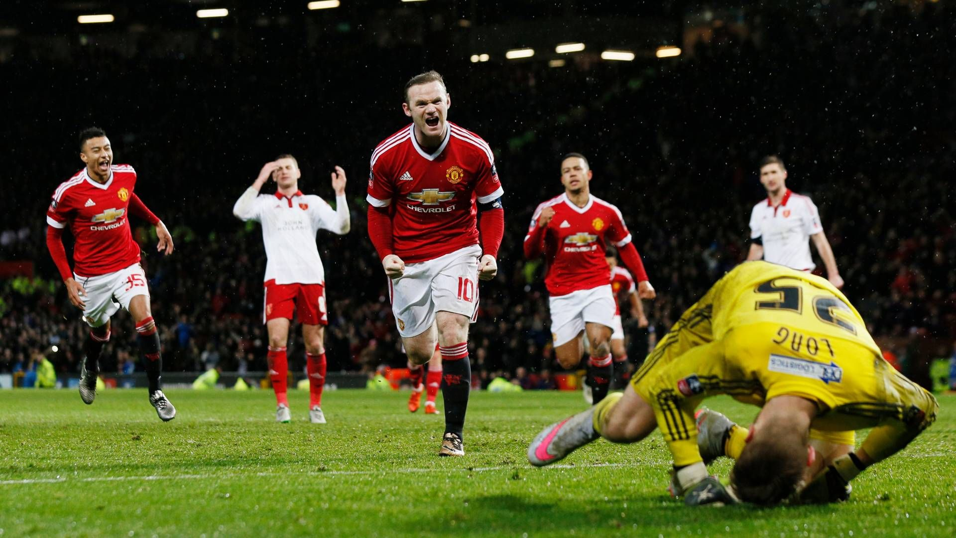 Rooney scores against Sheffield United. [1920x1080