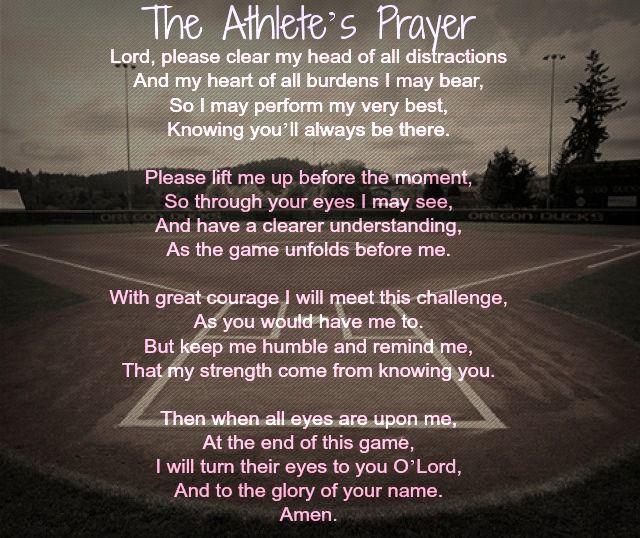 Athlete's Prayer | Life, Love, & Baseball ♡ | Pinterest ...