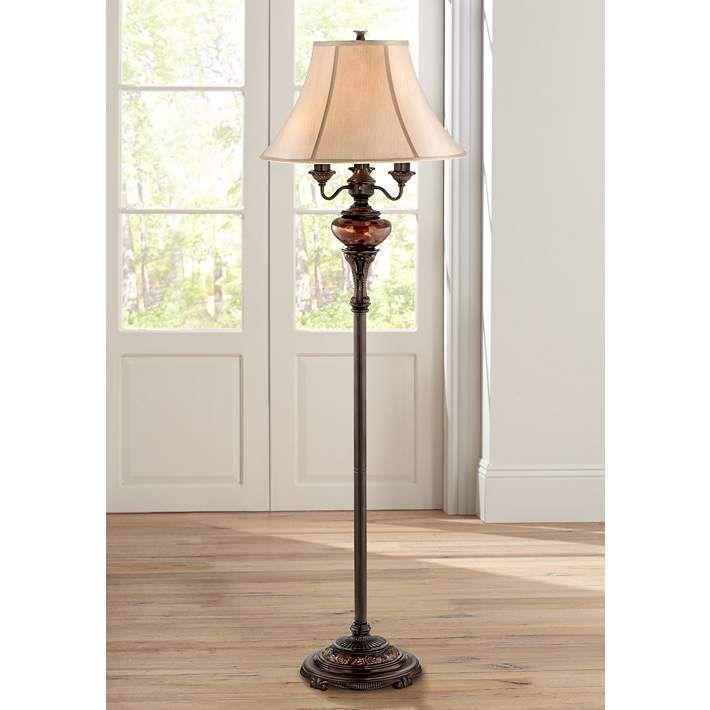 Bronze Tortoise Shell Font Floor Lamp By Barnes And Ivy 98142 Lamps Plus In 2020 Bronze Floor Lamp Swing Arm Floor Lamp Traditional Floor Lamps