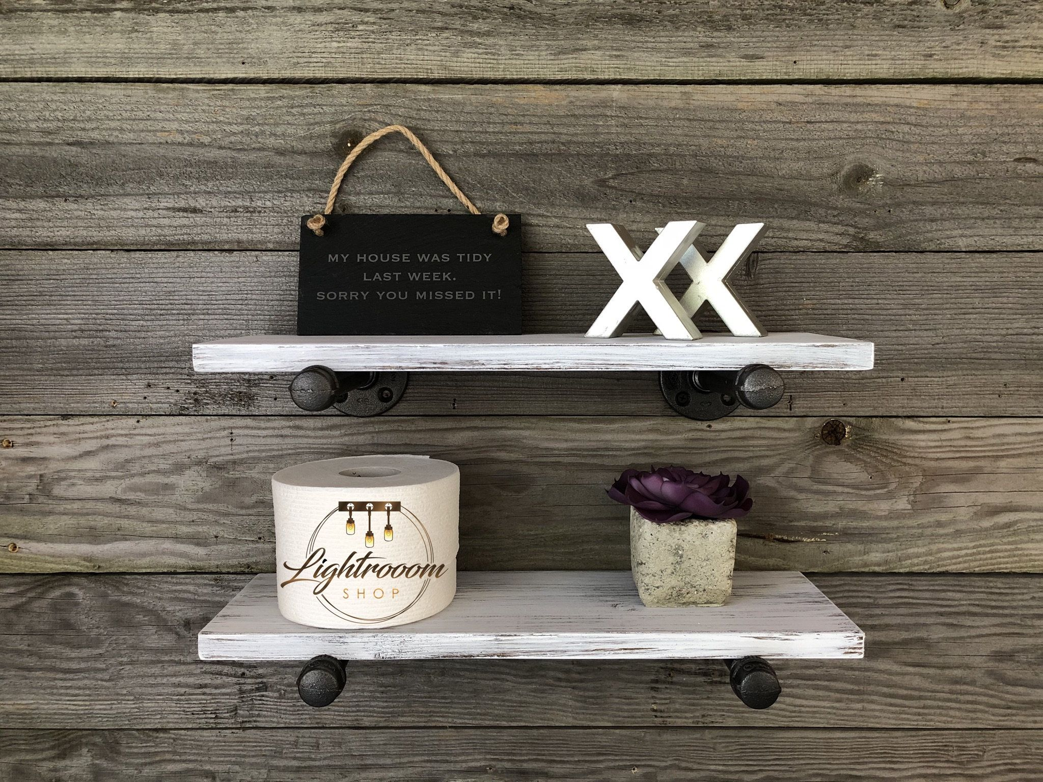 White Whitewash 5 5 Deep Floating Shelves Wall Shelf Kitchen Bathroom Industrial Rustic Handmade Floating Shelves Bathroom Shelves White Wall Shelves