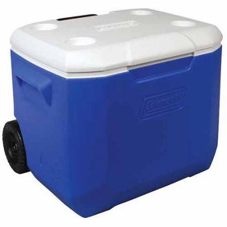 rolling ice chest blue