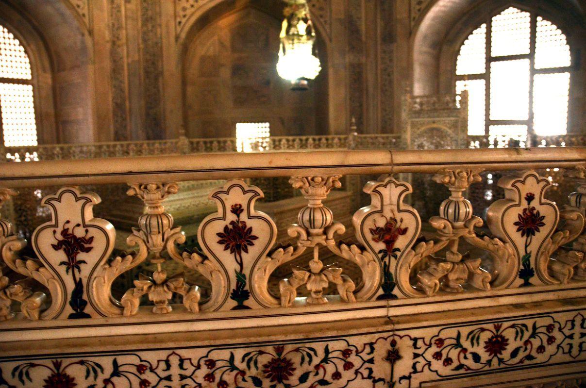 Lovely Agra Taj Mahal 26 Taj Mahal Mausoleum Interior Inlay Railing Next To  Cenotaphs