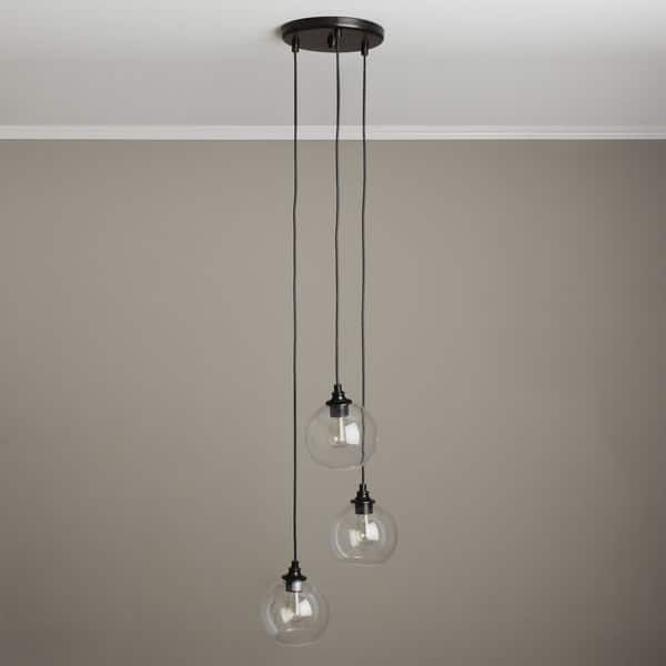 Uptown 3 Light Clear Globe Cer Pendant Ideas For Josh Lights