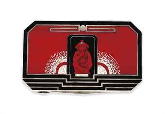 AN ART DECO LACQUER BOX, BY TAMISIER