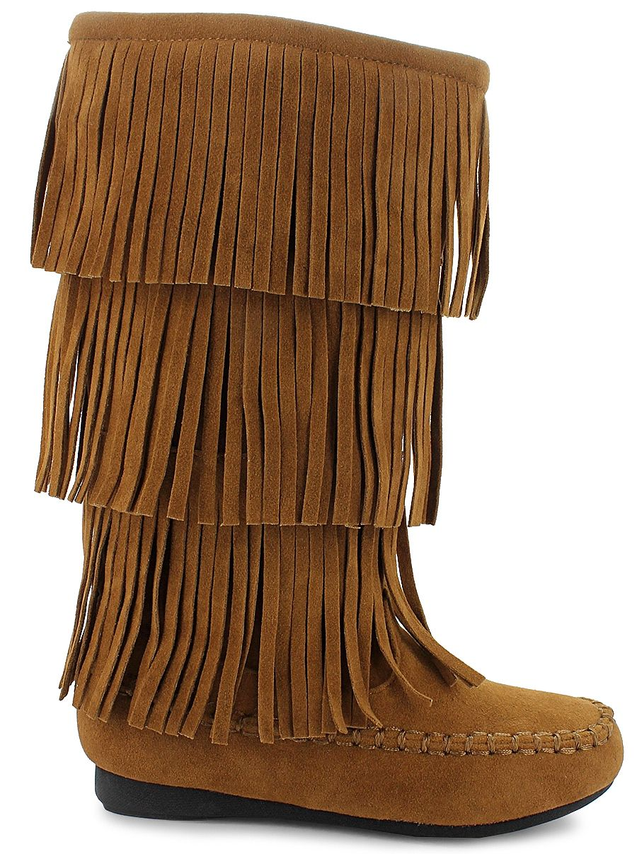fd07b1351 Fun Hot Tomato® fringe boots to get you ready for autumn  br  synthetic  suede upper