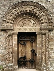 Architecture, Doors, Gates and Arches / carved wooden door. by echkbet
