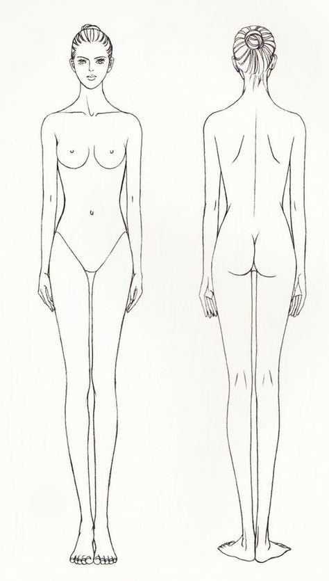 drawing tutorial woman body 服装效果图 Pinterest Draw