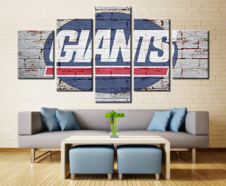 New York Giants Ny Nfl Football 5 Panel Canvas Wall Art Home Decor Decal Labs Home Decor Home Decor Sets Canvas Art Wall Decor