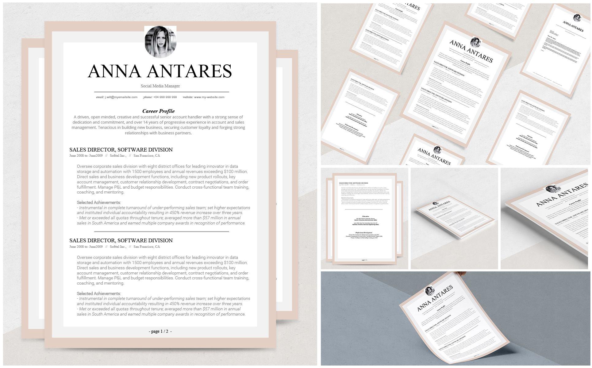 Antares Resume Template 69115 Resume Template Resume Template Professional Templates