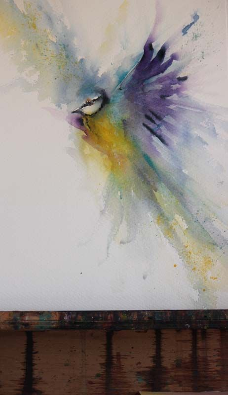 Tending The Nest By Patti Kiuber Florida Watercolor Society Show