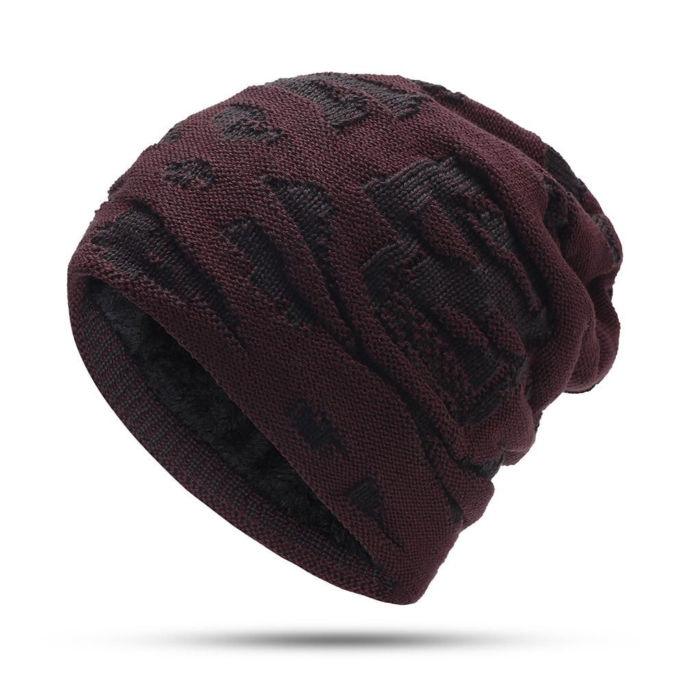4c683df2e4ea92 Mens Winter Windproof Thicken Plus Velvet Knit Hat | Products in ...