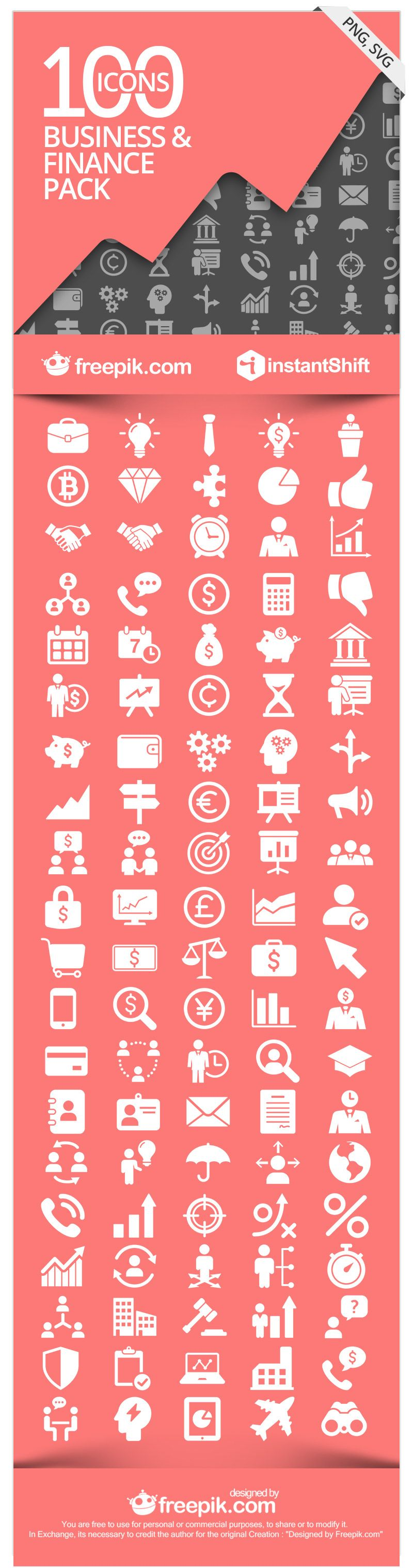 finbiz the free business finance icon set サイン pinterest