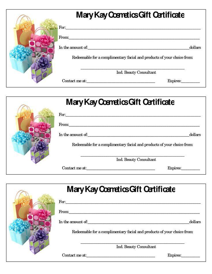 Mary Kay Flyers Mary Kay Assorted Gift Certificates Mary Kay - fresh younique gift certificate template