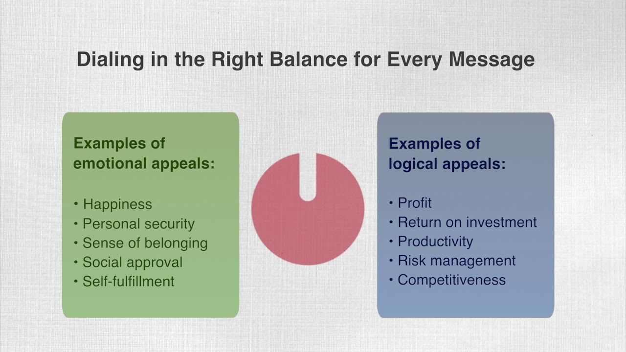 Balance Emotional and Logical Appeals for Persuasive