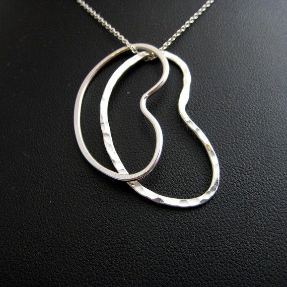 Pkd Awareness Double Kidney Pendant Necklace In Argentium Sterling