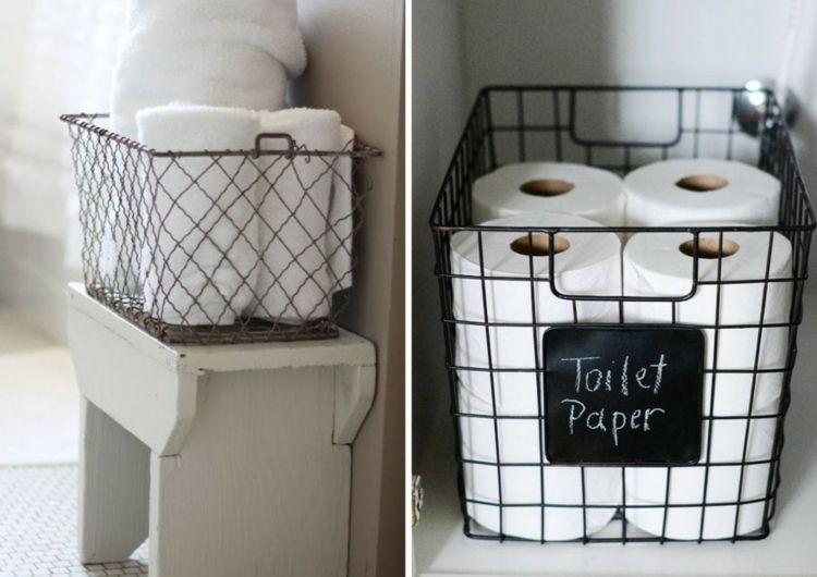 Stauraum Badezimmer ~ Drahtkoerbe stauraum nutzen badezimmer praktisch toilettenpapier