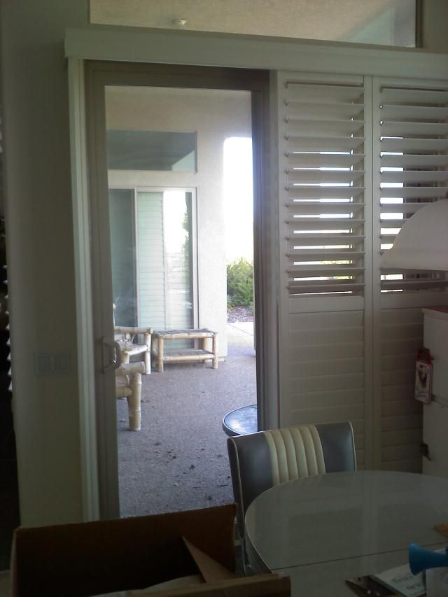 Questions About Plantation Shutters Over Sliding Patio Doors Home