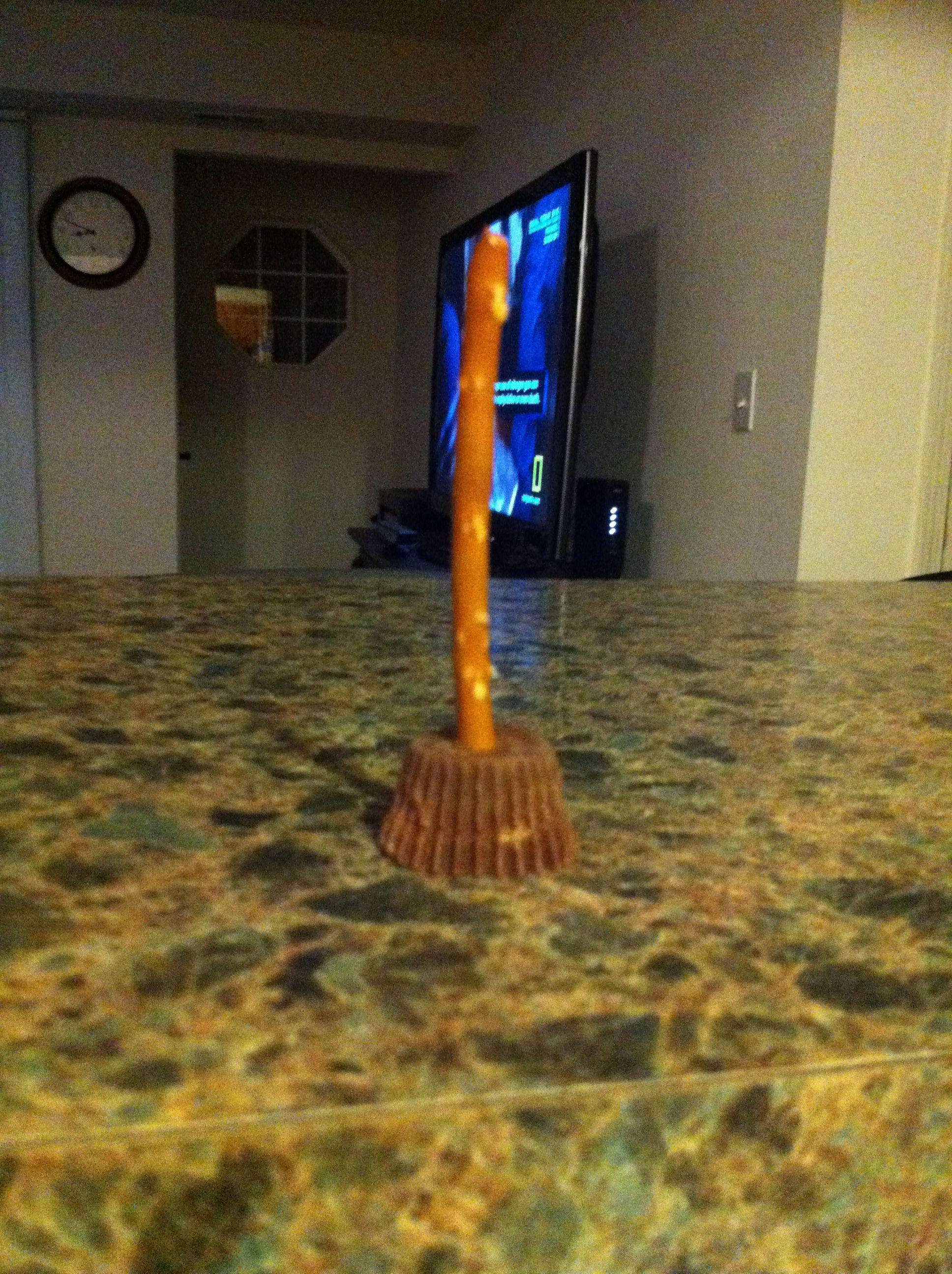 Witches brooms! Mini peanut butter cups and mini pretzel rods!!!