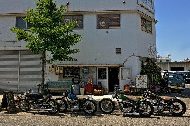 A look behind the scenes at one of Japan's top custom motorcycle shops, Heiwa.