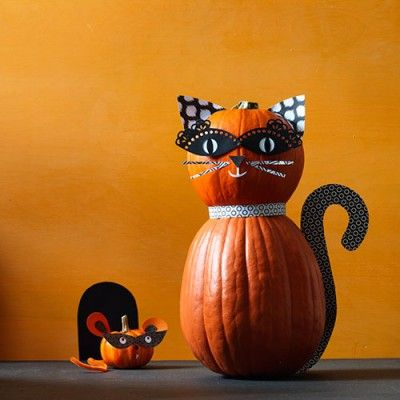 36 Easy Halloween Pumpkin Ideas Mice, Craft and Pumpkin ideas - easy halloween pumpkin ideas