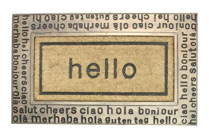 The hello international doormat from urban barn for the for International home decor stores