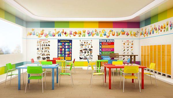 Kindergarten interior design on behance kids dise o for Escuela de decoracion de interiores