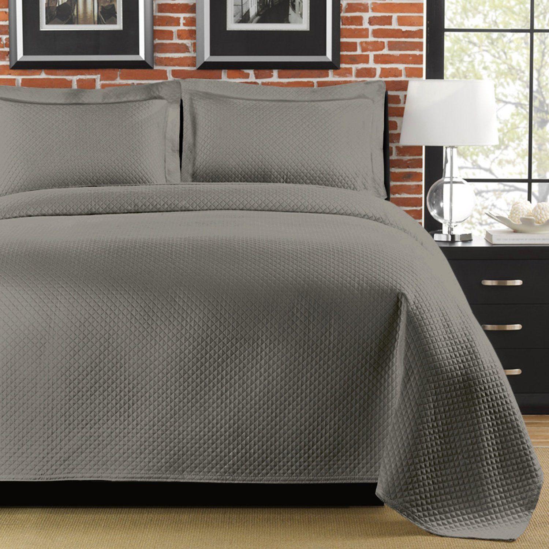 Amazonsmile Lamont Home Diamante King Coverlet Grey King Size
