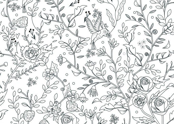 final little flowers coloring page pic | Coloring pages | Pinterest