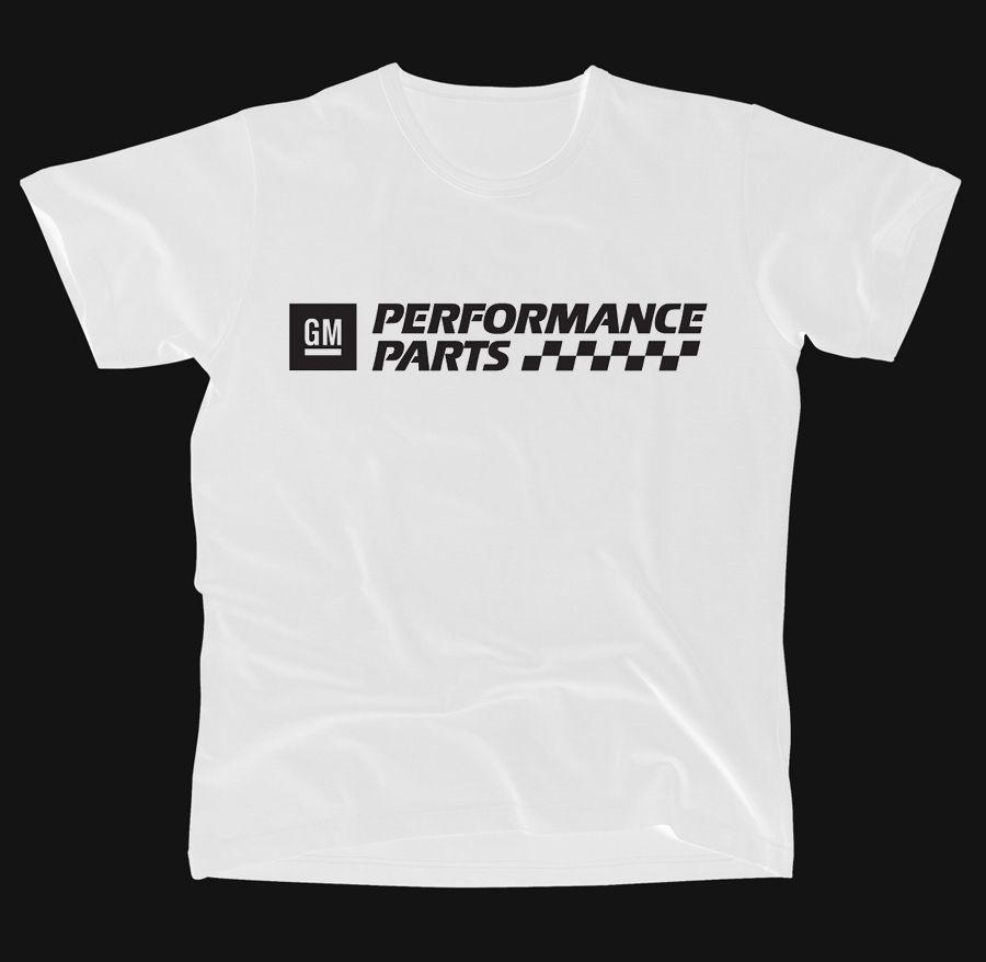 Gm Performance Parts White Mens Tshirts Mens Tops Mens Graphic Tshirt