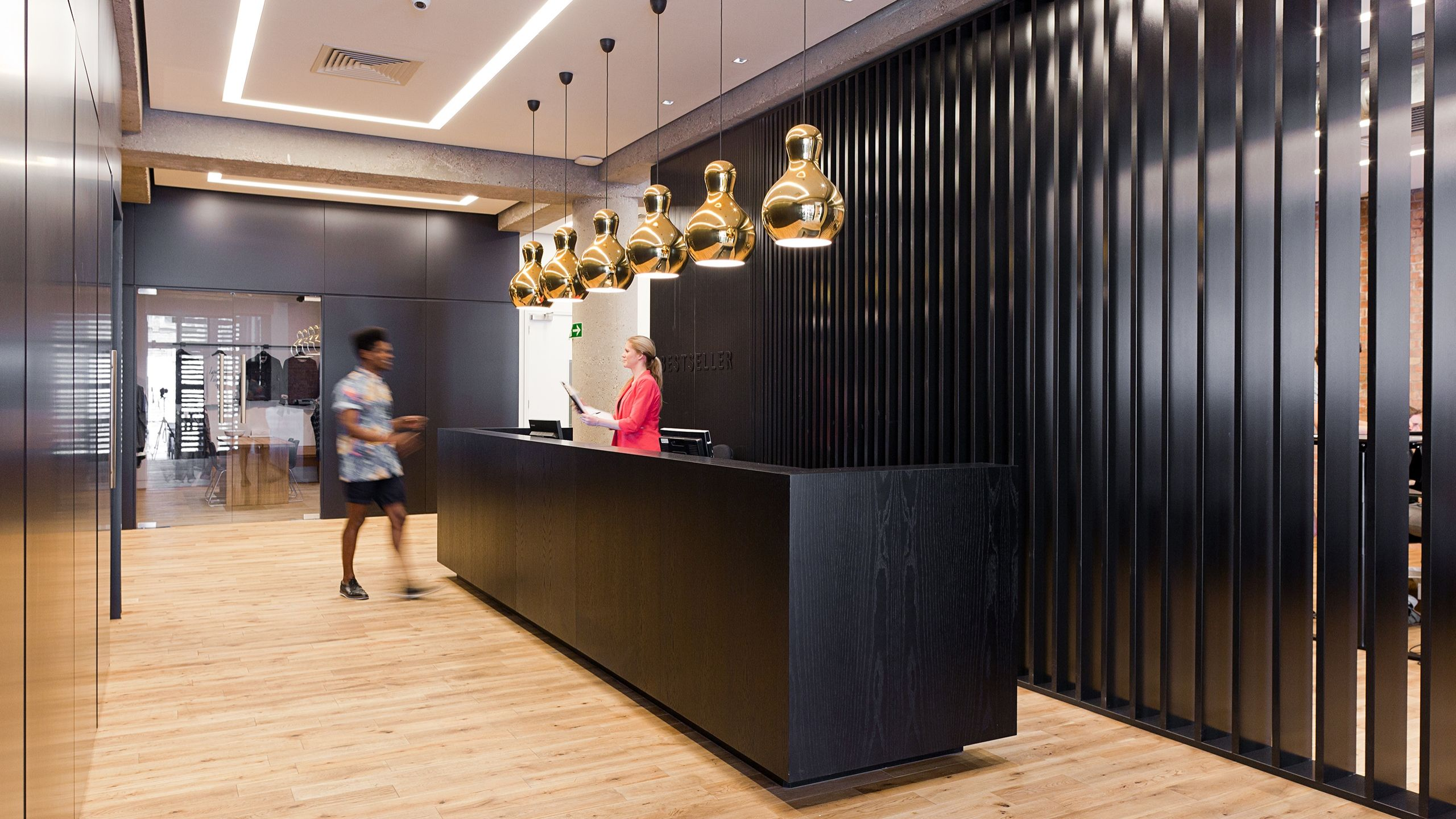 Danish fashion brand Bestseller s new head office in Brick Lane London with Montana Sit stand workstations Projects Pinterest