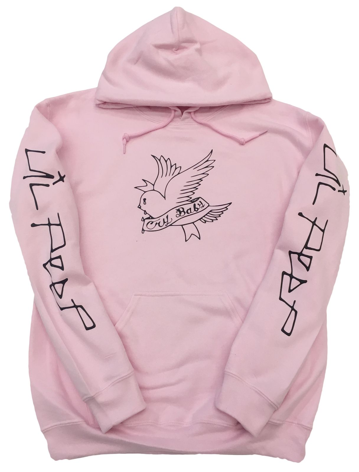 da53ef723 Lil Peep Hoodie Cry Baby Twitter Bird Design in Black Print ...