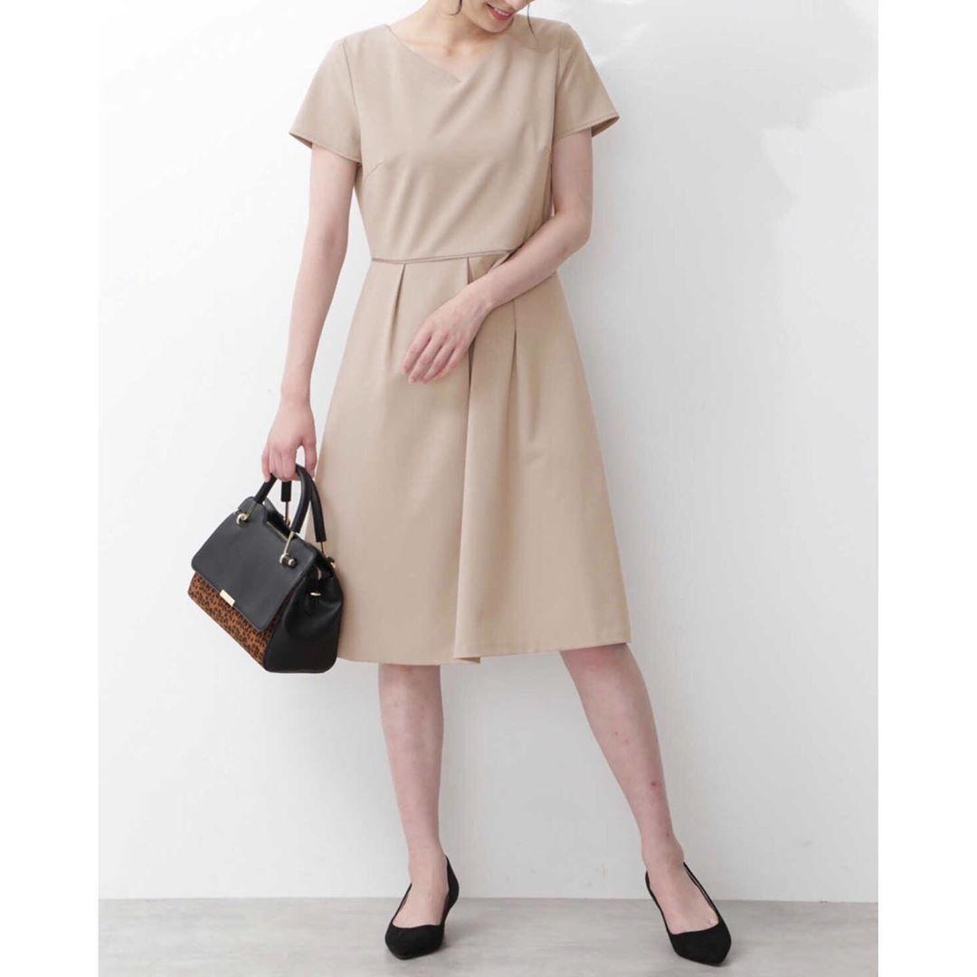 ハートネックフィット フレアワンピース natural beauty basic dresses for work fashion shirt dress