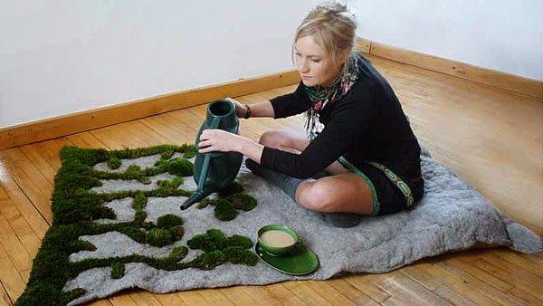 blumen teppich selber machen Geburtstag Pinterest - wohnzimmer deko selber machen