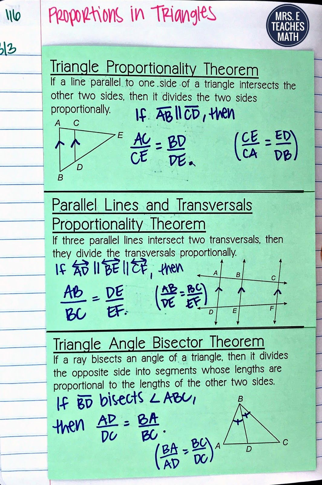 Triangle Similarity Inb Pages School Stuff