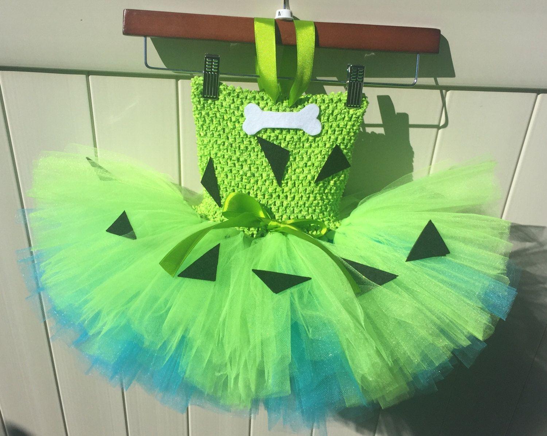 Pebbles Costume Flinstones girl costume Pebbles tutu dress #pebblesandbambamcostumes