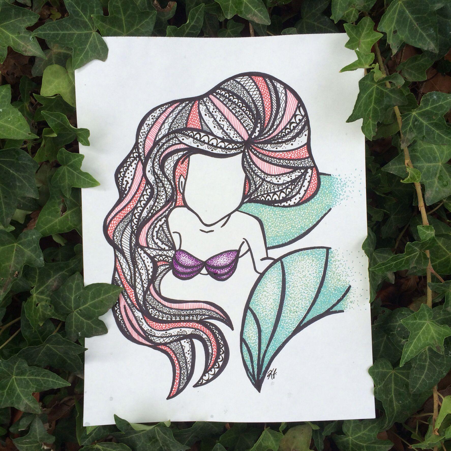 Ariel zentangle