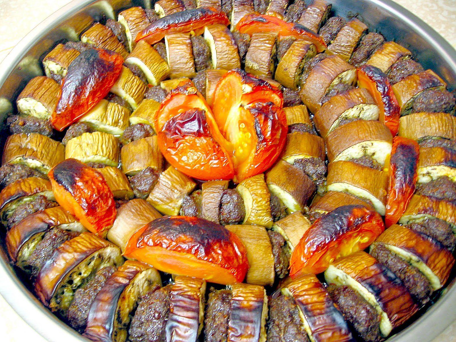 Patlican Kebab Turkische Kuche Turkisches Essen Lebensmittel Essen