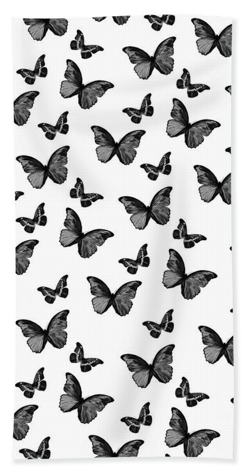 Black And White Butterfly Glam 1 Pattern Decor Art Beach Towel For Sale By Anita Bella Jantz In 2020 Black And White Photo Wall White Aesthetic Photography Black And White Picture Wall