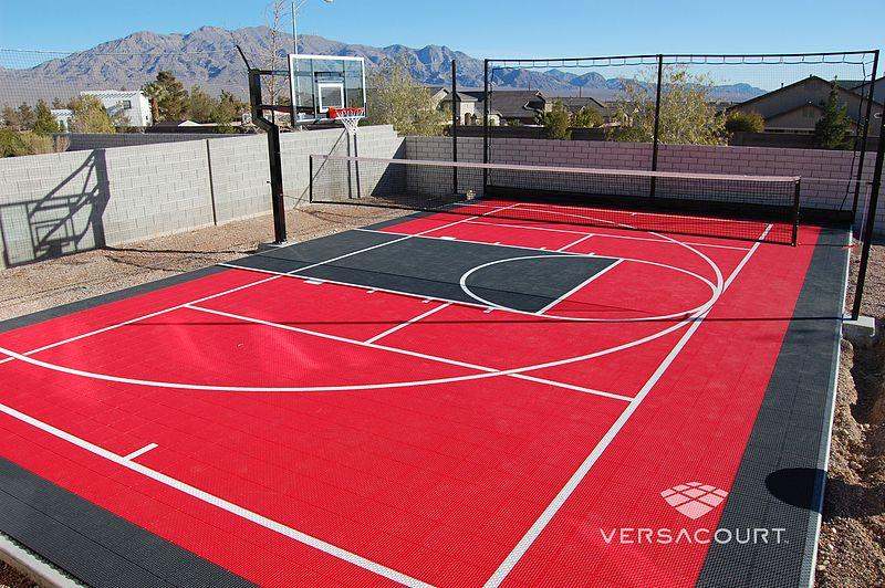 Versacourt Home Backyard Basketball Court Photos Backyard Basketball Basketball Court Backyard Basketball Court