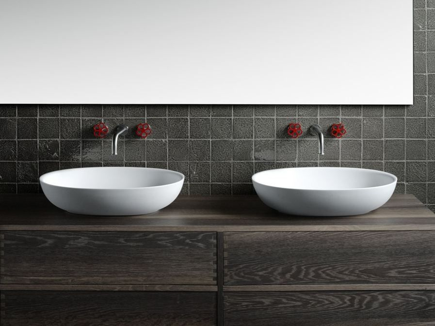 FISHER ISLAND Washbasin by Boffi design Piero Lissoni bathroom - cout agrandissement maison 30m2