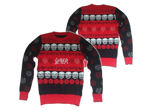slayer christmas holidays sweaterbecause nothing says merry christmas quite like some thrash metal - Metal Band Christmas Sweaters