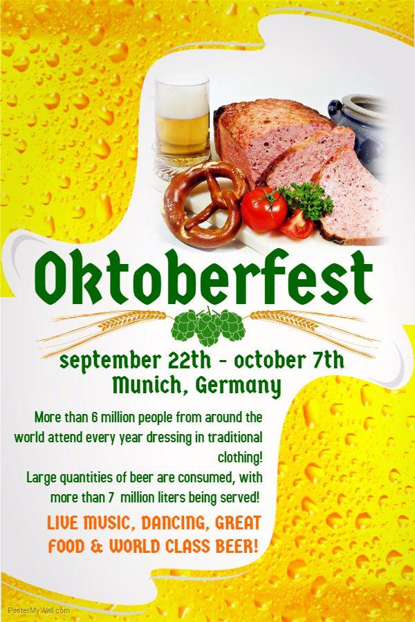 Oktoberfest Poster Template  Oktoberfest Flyer Templates