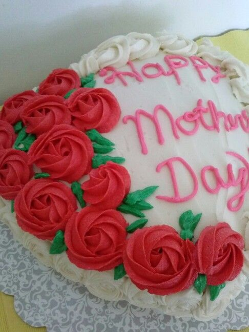 Heart Shaped 2 Layers Mother S Day Cake Decorated With 12