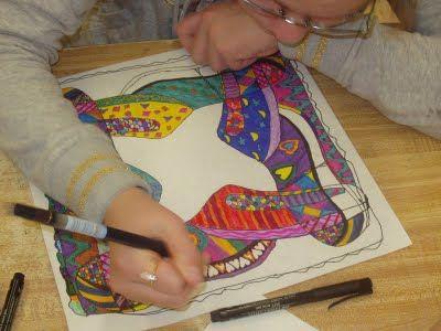 Contour Line Drawing Shoes Lesson Plan : High school art department: not the same old contour line shoe