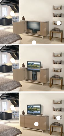 electric flat screen tv lift provides a convenient storage solution for flat screen televisions while making the tv easily accessible for viewing