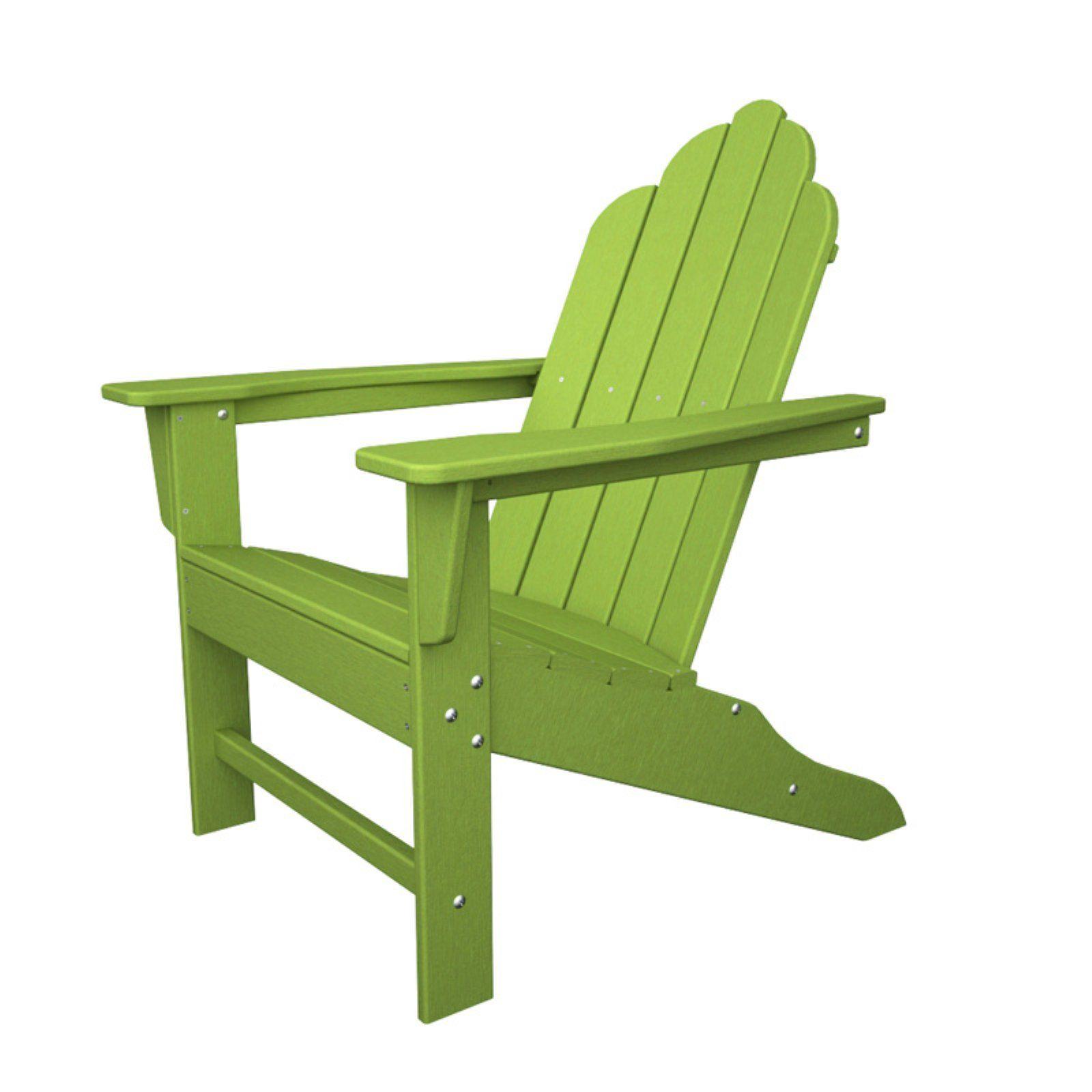 Outdoor Polywooda Long Island Recycled Plastic Adirondack Chair