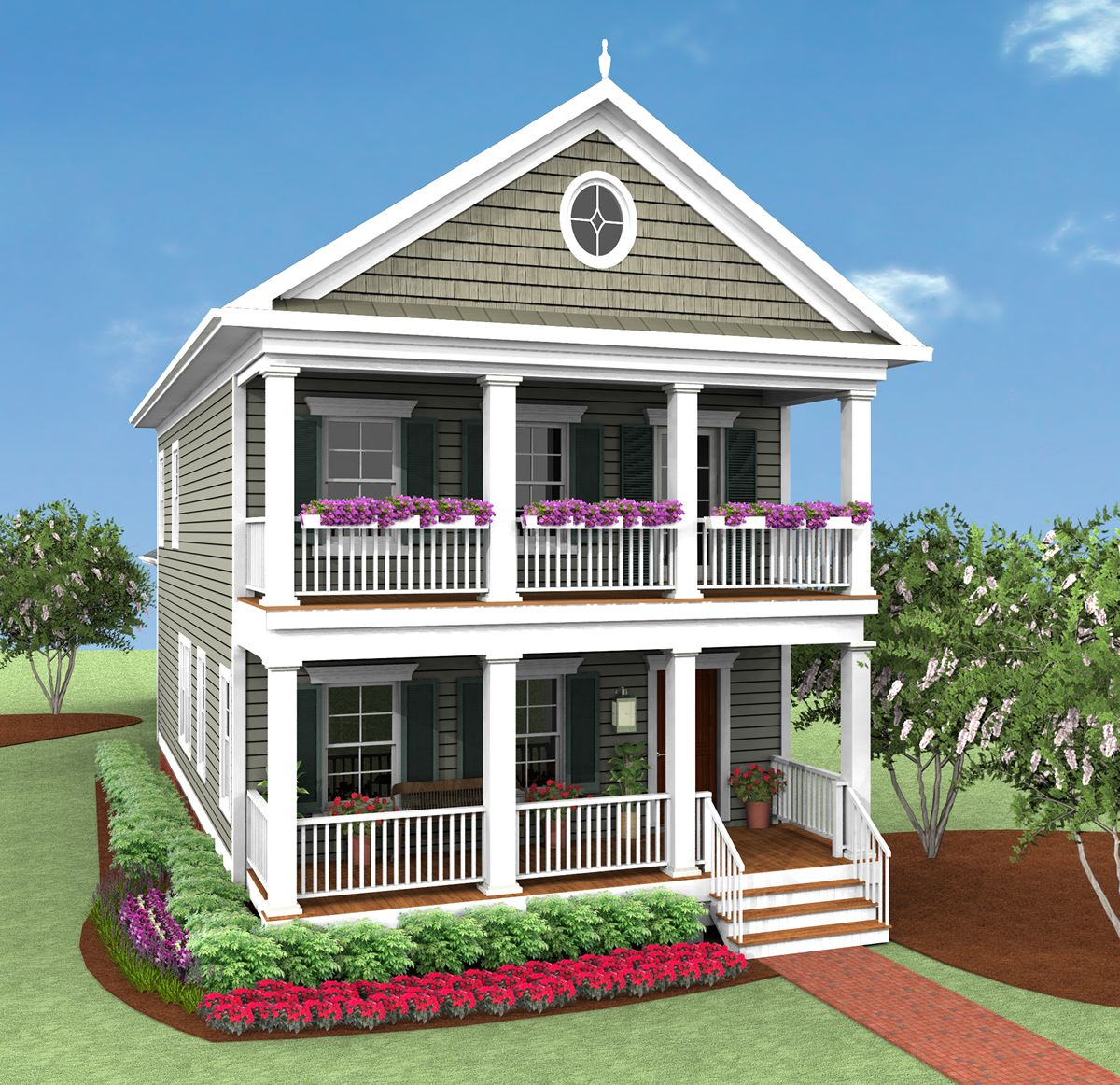 Chatham Legacy Covell Communities Porch House Plans Beach House Plans House With Balcony